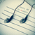 earphones simulating musical notes and the text fiesta de la mus stock photo © nito
