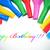 Rood · gelukkige · verjaardag · ballonnen · 3D · geïsoleerd · witte - stockfoto © nito