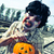 scary zombie with a carved pumpkin with a filter effect stock photo © nito