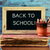 text back to school on a chalkboard stock photo © nito