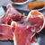 dilimleri · jambon · peynir · biberiye · gıda · ahşap - stok fotoğraf © nito