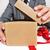 christmas · geschenk · vergadering · tabel · boom · vak - stockfoto © nito