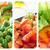 コラージュ · 健康 · カプレーゼ · ギリシャ語 · エビ - ストックフォト © nito