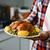 Törökország · krumpli · francia · bab · közelkép · felszolgált - stock fotó © nito