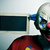 evil clown with a blank chalkboard stock photo © nito