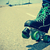 tekerlekler · paten · yeşil · beyaz · yol - stok fotoğraf © nito