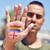 man · regenboog · vlag · geschilderd · hand - stockfoto © nito