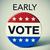 amerikai · szavazás · gomb · közelkép · lövés · egy - stock fotó © nito