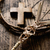 braided palm cross and crown of thorns stock photo © nito