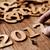 año · nuevo · manos · hombre · primer · plano · números - foto stock © nito