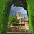 アルハンブラ宮殿 · スペイン · 表示 · 庭園 · 建物 · 空 - ストックフォト © nito