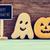 mutlu · halloween · kurabiye · afiş · mor · şeker - stok fotoğraf © nito