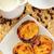 milk and pasteis de nata typical portuguese egg tart pastries stock photo © nito