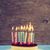 lighted birthday candles on a cheesecake with a retro effect stock photo © nito
