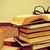 bőrönd · könyvek · papír · könyv · nyár · levél - stock fotó © nito
