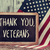 text thank you veterans in a chalkboard and the flag of the US stock photo © nito