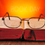óculos · velho · livro · retro · leitura · biblioteca - foto stock © nito