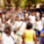 defocused blur background of people walking or marching stock photo © nito