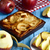 an apple cake and some apples on a blue table stock photo © nito
