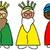 три · мудрый · мужчин · иллюстрация · весело · чернила - Сток-фото © nito