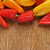 sweet peppers of different colors on a rustic table stock photo © nito