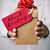 man with a gift box with the text black friday stock photo © nito