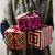 Navidad · regalos · etiqueta · aislado · blanco · mano - foto stock © nito