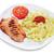 grillcsirke · mellek · tányér · friss · zöldségek · egészség · tyúk - stock fotó © nito
