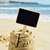 blank signboard topping a sandcastle stock photo © nito