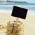 fekete · tengerpart · közelkép · kettő · homok · tenger - stock fotó © nito