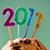 número · año · nuevo · torta · primer · plano · cuatro · velas - foto stock © nito