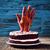 Rood · fluwelen · cake · houten · tafel · rustiek · Blauw - stockfoto © nito