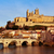orb river and old town of beziers france stock photo © nito