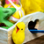 toy chicks and decorated easter eggs stock photo © nito