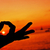 man · mediteren · yoga · lotus · positie · zonsondergang - stockfoto © nito