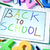 sentence back to school handwritten in a tablet slight vignette stock photo © nito