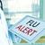 orvos · tabletta · szöveg · influenza · évszak · közelkép - stock fotó © nito