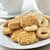 beker · thee · cookies · witte · cafe · plaat - stockfoto © nito