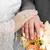 рук · кольцами · букет · свадьба · пару · цветы - Сток-фото © nneirda