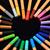 kalemler · form · kalp · renk · sevmek · siyah - stok fotoğraf © nneirda