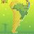 térkép · Latin-Amerika · világ · Föld · narancs · piros - stock fotó © norwayblue