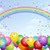 festival background with balloons and rainbow stock photo © norwayblue