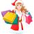 kadın · şapka · alışveriş · Noel · hediyeler - stok fotoğraf © norwayblue