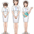ingesteld · jonge · cute · verpleegkundige · glimlach · informatie - stockfoto © norwayblue