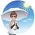 sol · paraguas · ilustración · ola · protección - foto stock © norwayblue