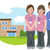 maison · de · retraite · vecteur · eps · femme · maison · signe - photo stock © norwayblue