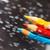 crayons · bleu · bois · bleu · clair · crayon · éducation - photo stock © novic