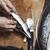 kobieta · makrela · ryb · tabeli · czyszczenia · gotować - zdjęcia stock © novic