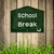School brak message on Blackboard with green grass on wooden bac stock photo © nuiiko