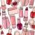 desenho · animado · cosméticos · sem · costura · telha · estilo · bege - foto stock © nurrka